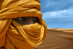 Tuareg posing for a portrait. TIMBUKTU, MALI. Tuareg posing for a portrait in camp near Timbuktu royalty free stock images