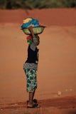 Tuareg in the Sahara Stock Image