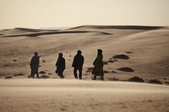 Tuareg in the Sahara Royalty Free Stock Images