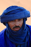 Tuareg in the Sahara Stock Image