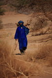 Tuareg in the Sahara Royalty Free Stock Photos