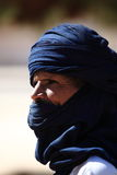 Tuareg in the Sahara Royalty Free Stock Images