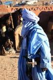 Tuareg in the Sahara Royalty Free Stock Image