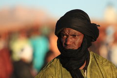 Tuareg in the Sahara Stock Photo