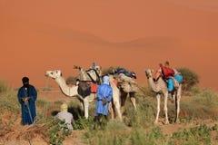 Tuareg in the Sahara Stock Photo