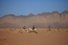 Tuareg in the Sahara Royalty Free Stock Photo