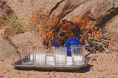 Tuareg tea. In zamur region, western sahara Royalty Free Stock Photo