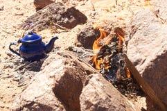 Tuareg tea. In zamur region, western sahara Stock Image