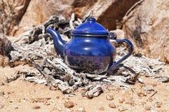 Tuareg tea. In zamur region, western sahara Royalty Free Stock Photos