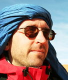 Tuareg. Tourist in Sahara desert Royalty Free Stock Photos