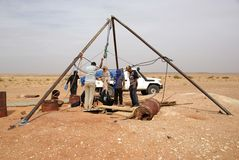 Tuaregs in Libya Stock Image
