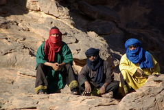Tuaregs in Libyen Stockfotos
