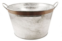 Tub. Isolated tin tub on white stock image