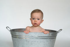 Tub Baby Stock Photography