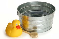 Tub and Ducky Royalty Free Stock Photo