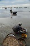 Tub Fishing Danang Vietnam Royalty Free Stock Images