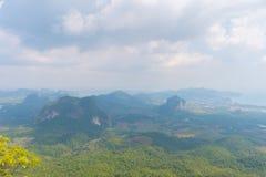 Tub Kaek Nak Hill Nature Trail viewpoint. Krabi province. Thailand. Tub Kaek  Hill Nature Trail viewpoint. Krabi province. Thailand stock images