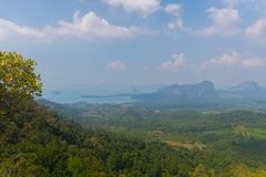 Tub Kaek Nak Hill Nature Trail viewpoint. Krabi province. Thailand. Tub Kaek  Hill Nature Trail viewpoint. Krabi province. Thailand royalty free stock photos