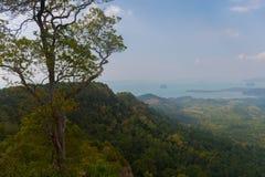 Tub Kaek Nak Hill Nature Trail viewpoint. Krabi province. Thailand. Tub Kaek  Hill Nature Trail viewpoint. Krabi province. Thailand royalty free stock image