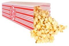 Tub of Popcorn. Isolated white background stock photography