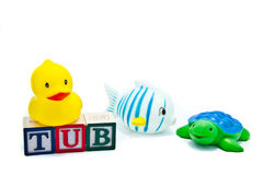 Tub Toys and Blocks Stock Images