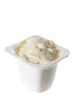 Tub of Yogurt Royalty Free Stock Images