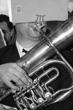 tuba музыканта Стоковое фото RF