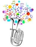 tuba партии Стоковые Фото