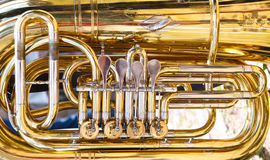 Tuba. Is a musical instrument made of brass Stock Image