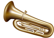 Tuba Royalty-vrije Stock Afbeelding