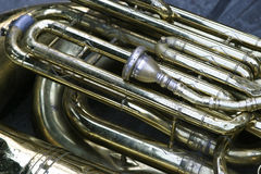 Tuba. Abstract view of a tuba Royalty Free Stock Photos