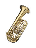 Tuba. Wind instrument on a white background royalty free stock image