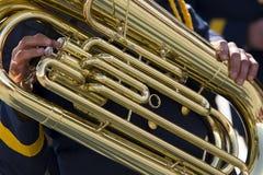 Tuba close up shot. Stock Images
