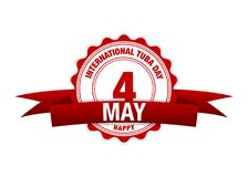 Tuba Day internationale Rouge de vecteur, le 4 mai Vacances rouges de calendrier Photos stock