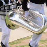 Tuba, de cilindro naval dos E.U. corpo e de cornetim Fotos de Stock