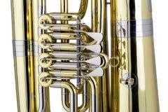 Tuba Detail Fotografia de Stock Royalty Free