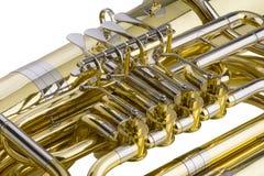 Tuba Detail Arkivbild