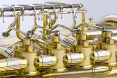 Tuba Detail Royaltyfria Bilder