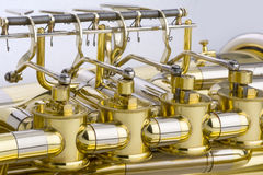Tuba Detail Imagens de Stock Royalty Free