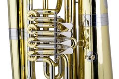Tuba Detail Royalty Free Stock Photography