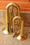 Tuba duet Royalty Free Stock Photo