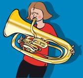 Tuba dziewczyna ilustracja wektor