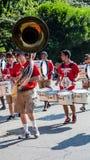 Tuba et tambours Photo stock