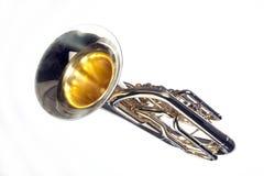 Tuba Euphonium Isolated on White Royalty Free Stock Photos