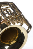 Tuba Euphonium Isolated on White Stock Photos