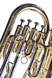Tuba Euphonium Isolated on White Stock Image