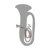 Tuba instrument icon image Royalty Free Stock Photo