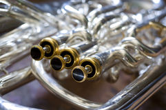 Tuba keys Royalty Free Stock Photo