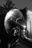 The Tuba. The marching band came down Main Street in this rural country community. It was the annual homecoming parade and the tuba stood out from the rest of Stock Images