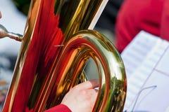 Tuba mit Reflexion Lizenzfreie Stockfotos